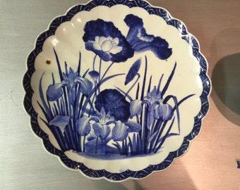 "Hirado Ware 16"" Hand Painted plate"