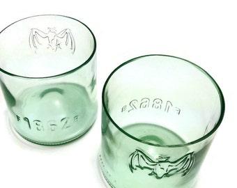 Set of Two (2) Upcycled Bacardi Rocks Glasses