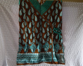 Vintage Indian Sleeveless Tunic Size M/L