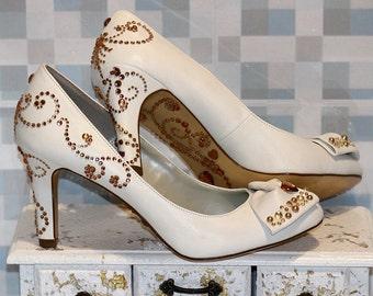 Astonishing White Shoes - White Wedding Shoes - Womens Shoes - White Wedding - - Low Heel Shoes - Shoes For Women - Bridesmaid Shoes