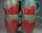 Heart Mugs Love Gift Lightweight Durable Microwave Dishwasher Oven Safe Lead Free
