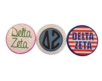 Delta Zeta 2-inch Button Variety Pack (3 Buttons)
