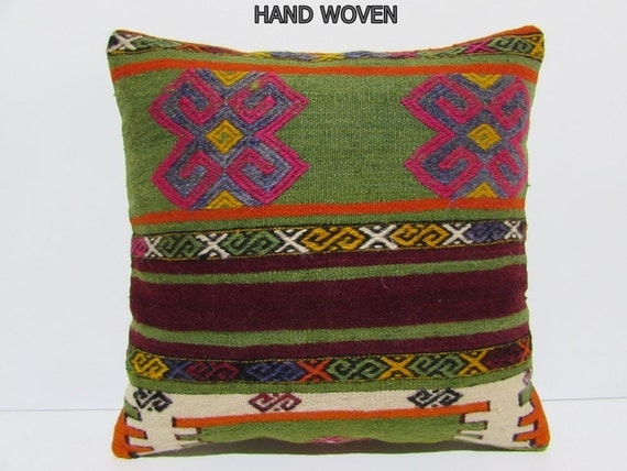 Oversized Decorative Pillow : 20x20 kilim pillow 20x20 oversized decorative pillow large