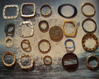 Set of 20 -- Featured - Watch Parts - Steampunk supplies - Watch dials - Vintage Watch faces -- Steampunk supply findings -- f34