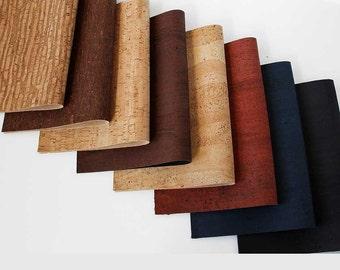 Cork Fabric Portugal Supplier - Cork Leather Textile Wholesale - Vegan Fabric - Kork - 35 x 25 cm / 13.8 x 9.8 in ( CK9 )