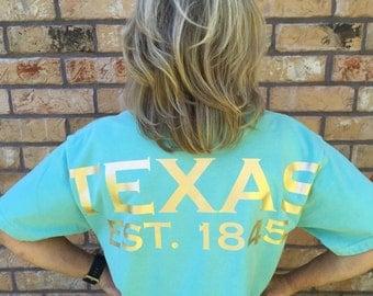 Texas spirit short sleeve t-shirt, Texas shirt, State Shirt, Texan pride lone star state or ANY state shirt