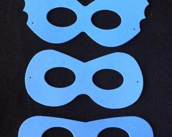 5 x foam superhero masks