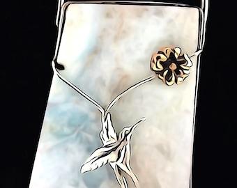 Blue Heminorphite, Blue Heminorphite necklace. Sterling Silver, necklace, Pendant, Sterling Silver, Necklace. By Ones Treasures