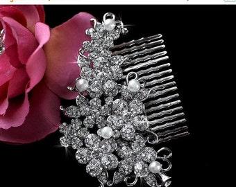 SALE - Bridal Comb , Wedding Comb , Bridesmaid Comb , Crystal Headpiece , Prom Comb , Hair Comb