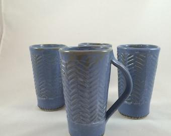 Blue tumblers