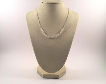 Custom Handcrafted Beaded Necklace, Wedding Dress Embellishment Jewelry, Unique and Elegant Design