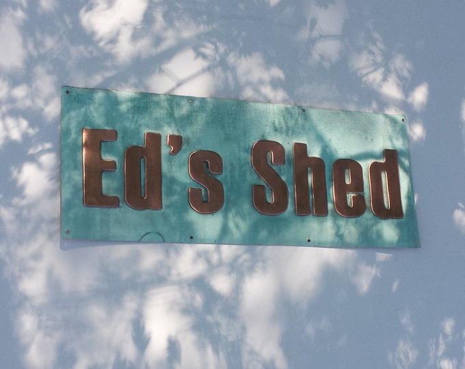 "Boat yacht door shed sign name plaque in 3""  letters in Haettenschweiler font e"