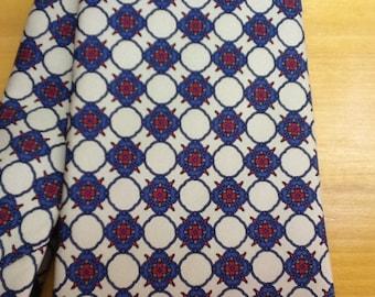 Vintage Christian Dior Geometric Silk Tie