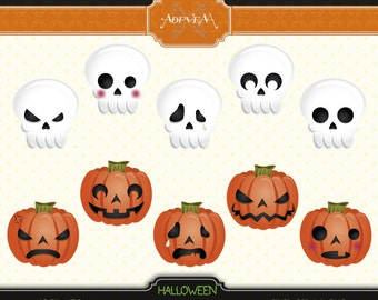 Instant Download - Halloween Emoticons