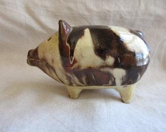 Antique Earthenware Piggy Bank