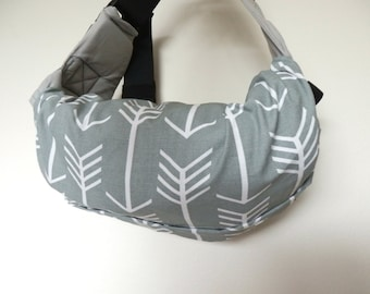 Baby carrier pod/bag/sack/storage  for  Ergo, Tula, Boba, Beco, Manduca, etc...-Arrows in Cool Grey