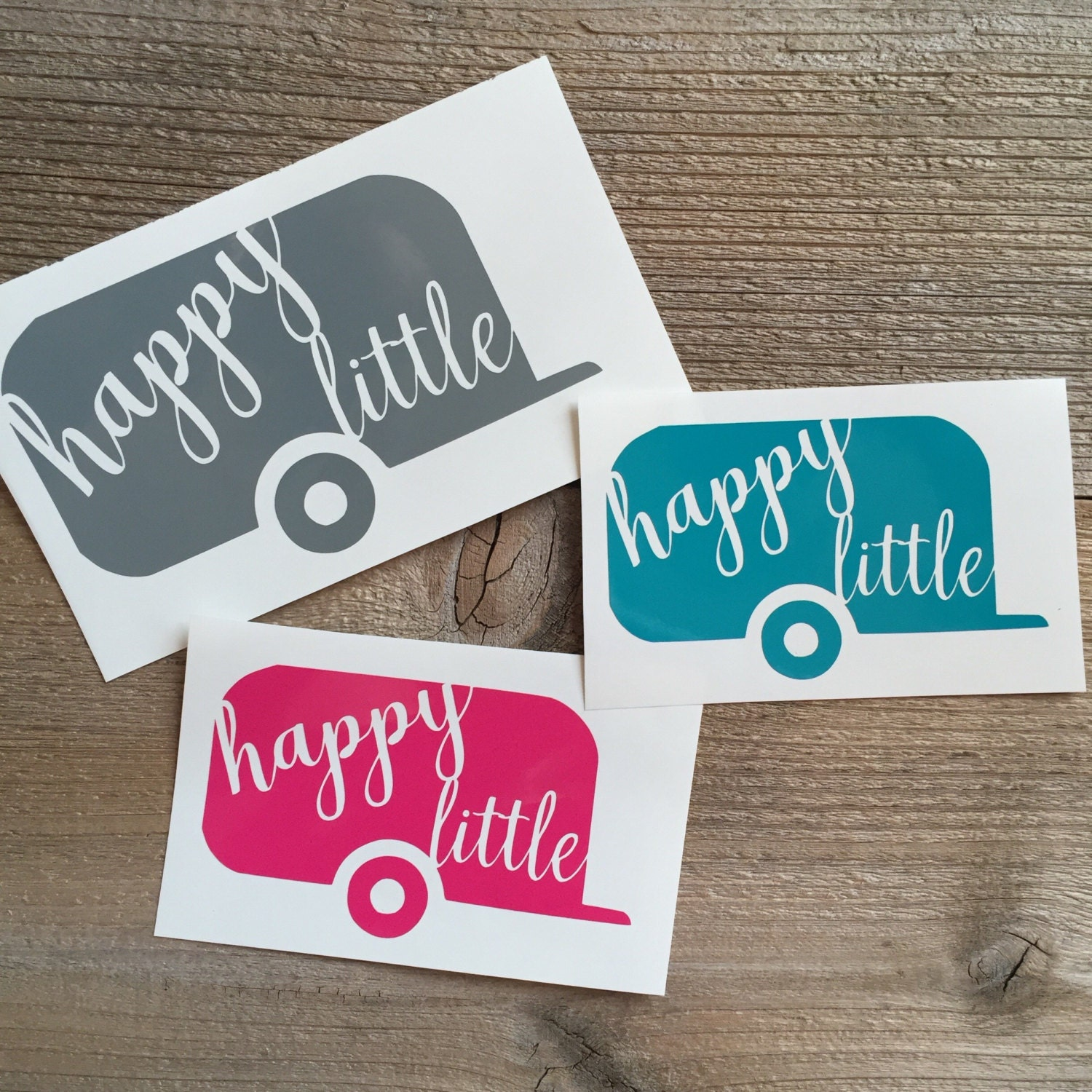 Happy little camper decal, phone decal, car decal, cup ...