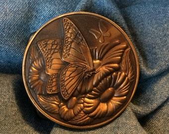 Vintage Bronze ' Butterfly ' Belt Buckle