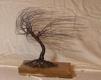 Black Iron Windswept Sculpture #1507