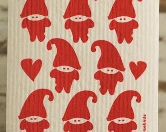 Santa's Elves Swedish Dishcloth