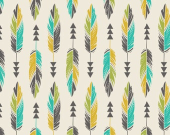 Crib Sheet Painted Feathers. Fitted Crib Sheet. Baby Bedding. Crib Bedding. Minky Crib Sheet. Crib Sheets. Teal Crib Sheet.