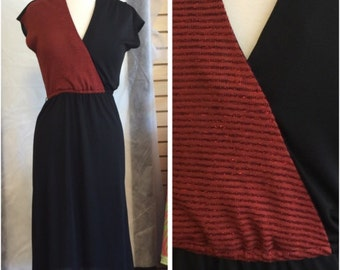 Young Edwardians Two Tone Dress/ vintage 70's Dress