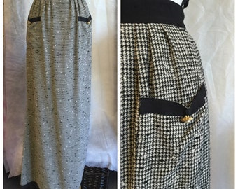 Vintage Chanel Tweed Maxi Skirt/ Size 2 Chanel