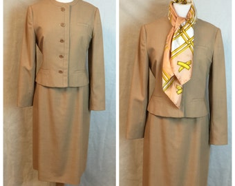 Vintage 60's Camel Suit size 8