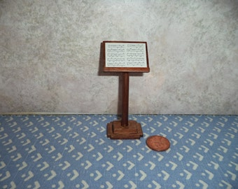 1:12 scale Dollhouse Miniature Music Stand
