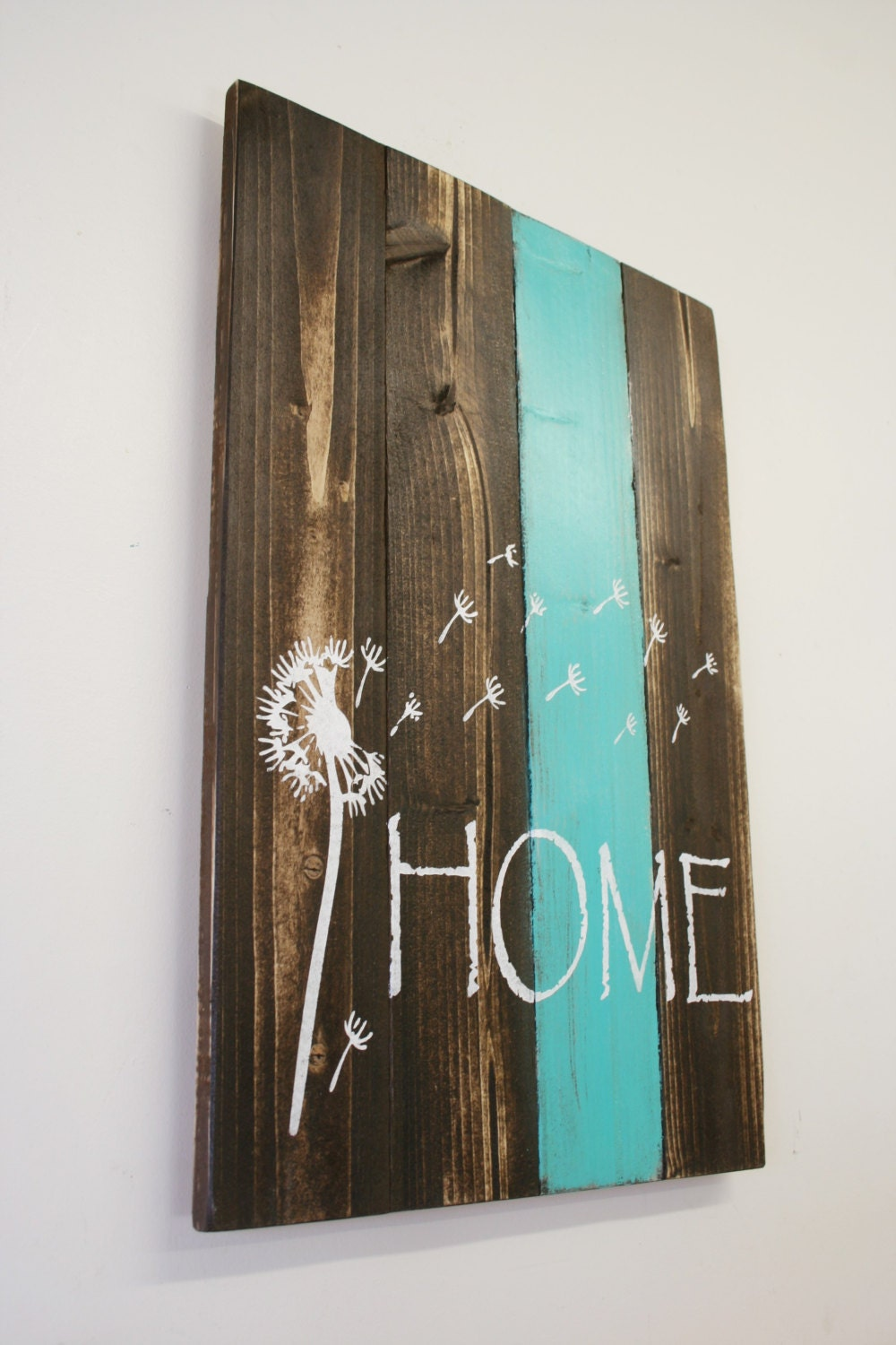 Home pallet sign dandelion sign rustic home decor country home for I home decor