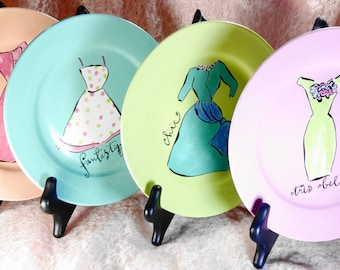 Four Rosanna Retired Dress Plates