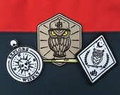 Patch - Set of 3 - Baseball Bat, Night Owl, Explore Wisely