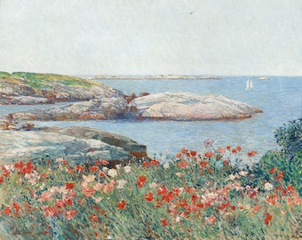 "Childe Hassam : ""Poppies, Isles of Shoals"" (1891) - Giclee Fine Art Print"