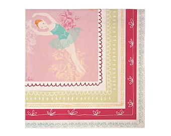 Ballerina Small Napkins (Pack of 20) - The Ballet Theatre