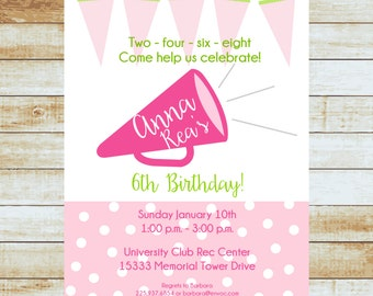 Personalized Cheer Birthday Invitation