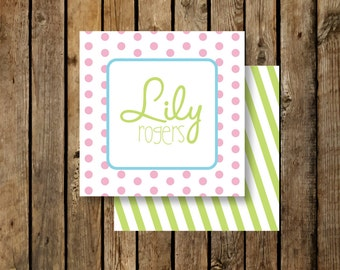 Personalized Calling Cards - Kids - Lily