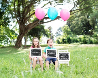 3 Guess What I'm going to be a Big Brother/Sister Chalkboard Announcement Printable files- Announcing baby/ pregnancy announcement 8x10