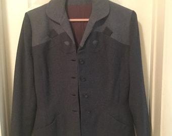 Grey-blue 1940's women's blazer