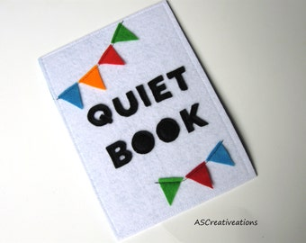 Quiet Book Cover, Banners