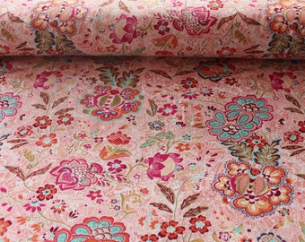 Cotton Jersey flowers of pink 0.5 meter