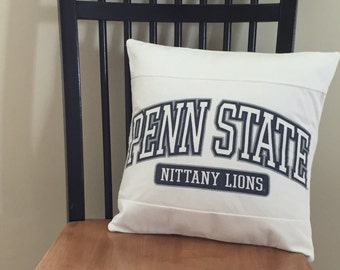 Penn State Nittany Lions Recycled T-Shirt Pillow Cover