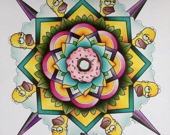 Homer Mandala Print