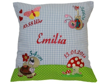 Pillow with request name and born data (DK05)