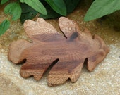 Oak leaf hair wood barrette~80mm hair clasp~Wooden Jewelry-Botanical~Natural hair care-Hair Clip Clasp-Boho EcoFashion-Hairstyle-Sustainable