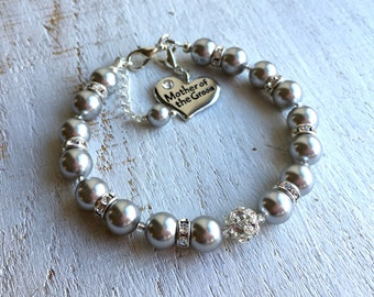 MOTHER of the GROOM gift Mother of the Bride gift Grandma gift Bracelet Mother of the GROOM Bracelet Mother of the Bride Swarovski Bracelet
