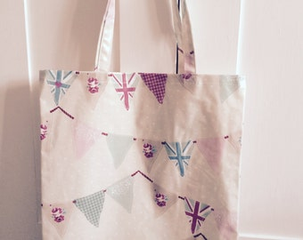 Oil Cloth Tote bag - Clarke & Clarke Bunting Fabric