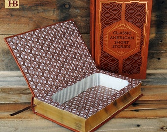 Hollow Book Safe - Classic American Short Stories - Leather Bound