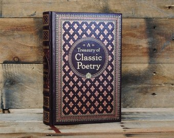 Book Safe - A Treasury of Classic Poetry - Leather Bound Hollow Book Safe