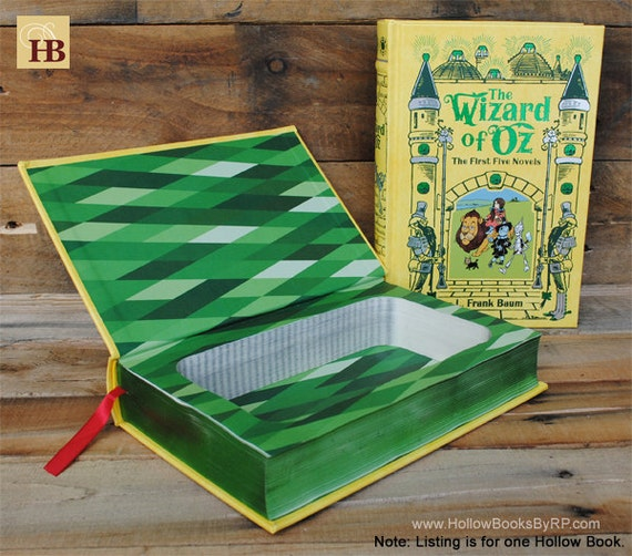 Book Safe - The Wizard of Oz - Yellow Leather Bound Hollow Book Safe