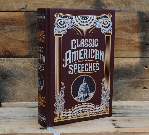 Hollow Book Safe - Classic American Speeches - Leather Bound